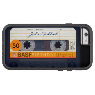 Retro Audio tape Name 50th Birthday Iphone Case 1