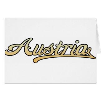 Retro Austria Greeting Card