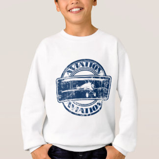 Retro Aviation Art Sweatshirt