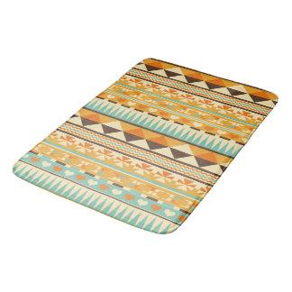 Retro Aztec Pattern Print Bath Mat