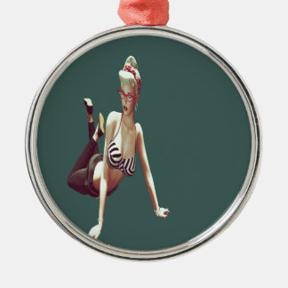 Retro  babe christmas ornament