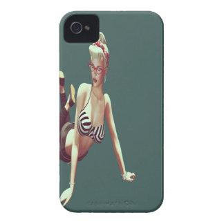 Retro  babe iPhone 4 Case-Mate case