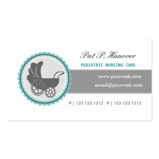 Retro Baby BLUE Carriage Vintage Victorian Era Pack Of Standard Business Cards