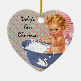 Retro Babys First Christmas Ornament