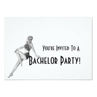 Retro Bachelor Party Invitations