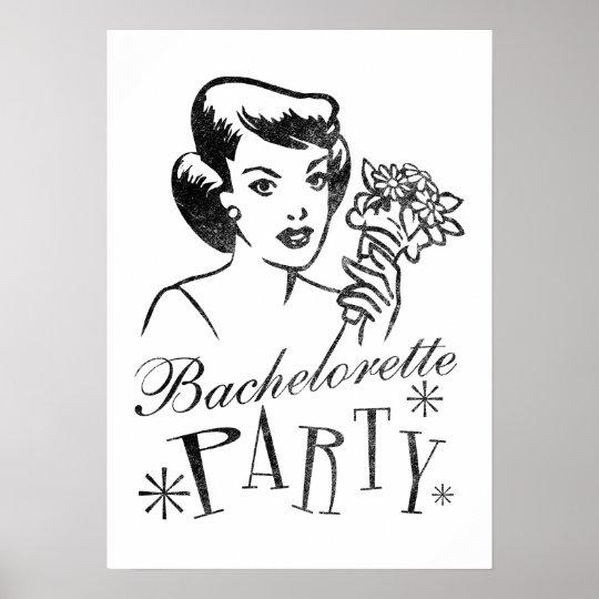 Retro Bachelorette Party Poster