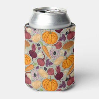 Retro background from fresh vegetables can cooler