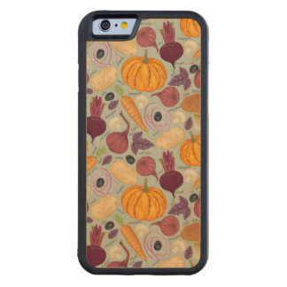 Retro background from fresh vegetables carved maple iPhone 6 bumper case