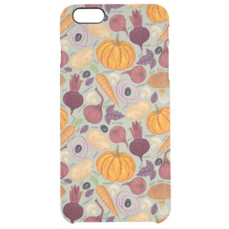 Retro background from fresh vegetables clear iPhone 6 plus case