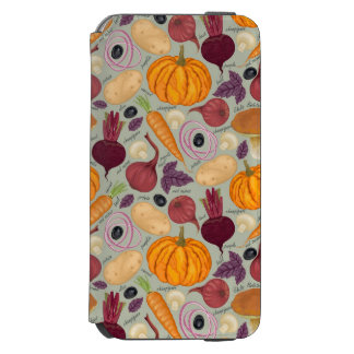 Retro background from fresh vegetables incipio watson™ iPhone 6 wallet case