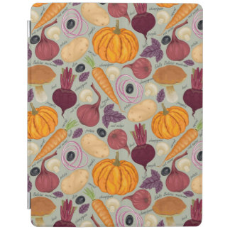 Retro background from fresh vegetables iPad cover