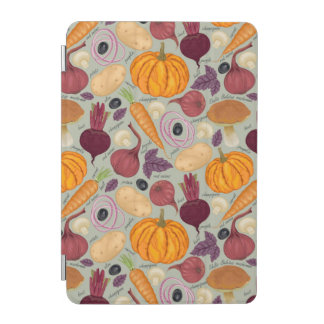 Retro background from fresh vegetables iPad mini cover