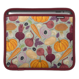 Retro background from fresh vegetables iPad sleeve