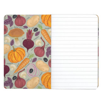 Retro background from fresh vegetables journal