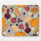Retro background from fresh vegetables mouse mat