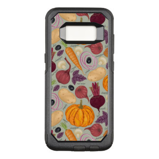 Retro background from fresh vegetables OtterBox commuter samsung galaxy s8 case
