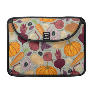 Retro background from fresh vegetables sleeve for MacBooks