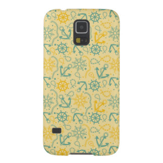Retro background with anchor, ropes galaxy s5 cover