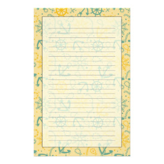 Retro background with anchor, ropes stationery