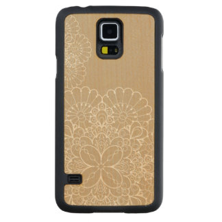 Retro background with lace ornament carved maple galaxy s5 case