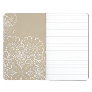 Retro background with lace ornament journal