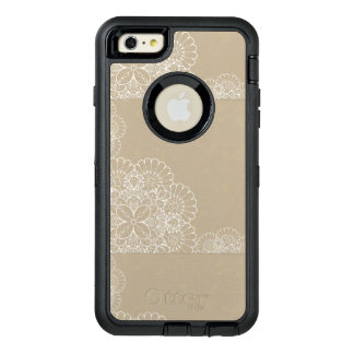 Retro background with lace ornament OtterBox defender iPhone case