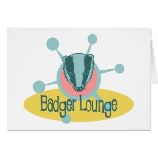 Retro Badger Lounge Card