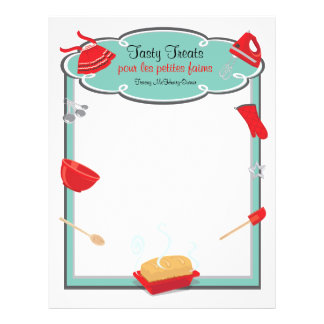 Retro baking and cooking Flyer Letterhead Bread