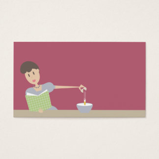 Retro baking cooking woman breaking eggs business business card