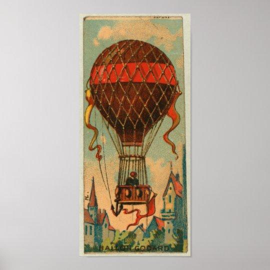 Retro Ballon Godard Poster