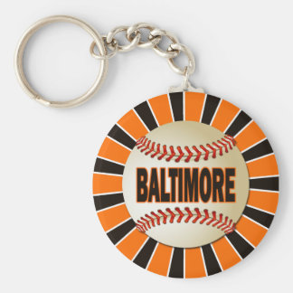 RETRO BALTIMORE BASEBALL KEY RING