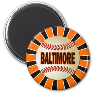 RETRO BALTIMORE BASEBALL MAGNET
