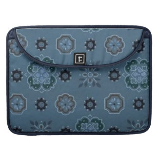 Retro Bandana Blue Macbook Pro Flap Sleeve Sleeves For MacBook Pro