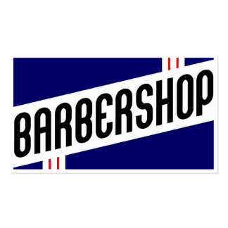 retro barbershop customer loyalty business card