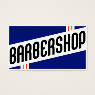 retro barbershop customer loyalty business card