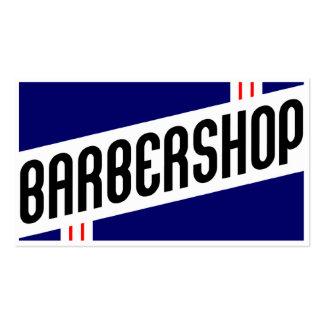 retro barbershop customer loyalty pack of standard business cards