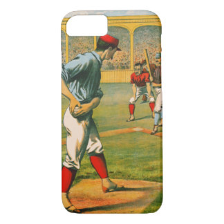 Retro Baseball Game Ad 1885 a iPhone 8/7 Case