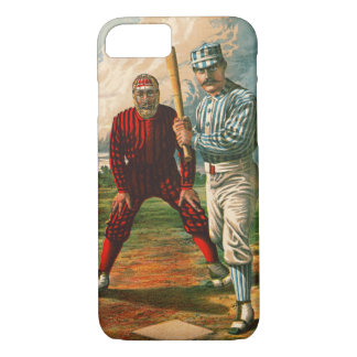 Retro Baseball Game Ad 1885 b iPhone 8/7 Case