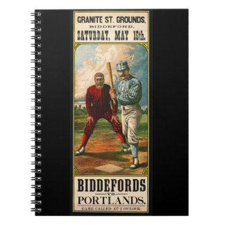 Retro Baseball Game Ad 1885 b Notebooks