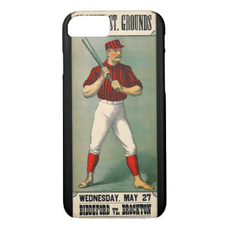 Retro Baseball Game Ad 1885 iPhone 8/7 Case