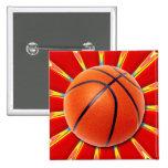Retro Basketball Pin
