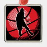 Retro Basketball Player Ball Ornament