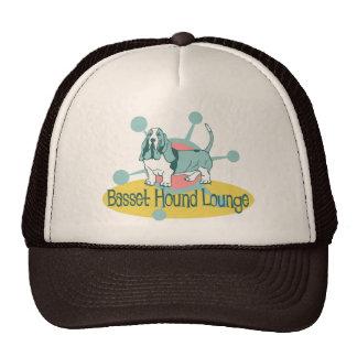 Retro Basset Hound Lounge Cap
