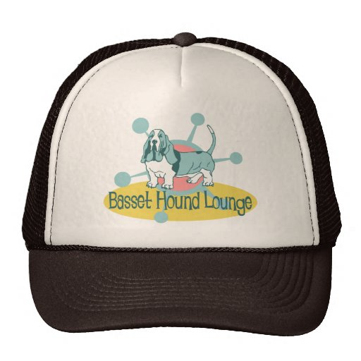 Retro Basset Hound Lounge Trucker Hat