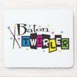 Retro Baton Twirler Mouse Pad