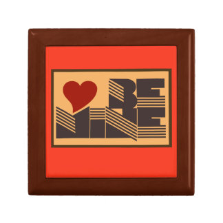 Retro Be Mine Small Square Gift Box
