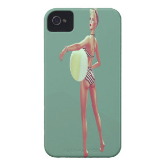 Retro Beach babe iPhone 4 Case-Mate Case