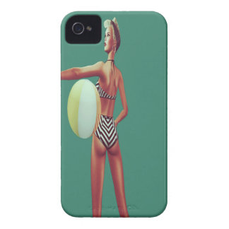 Retro Beach babe iPhone 4 Covers