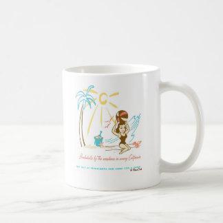 Retro 'Beach Bombshell' Coffee Mugs