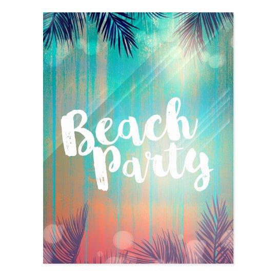 Retro BEACH PARTY Sunny Palm Trees Summer Party